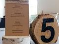 Menükarte VINTAGE mit Spitze und Tischnummer