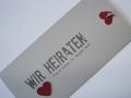 Hochzeitskarte in grau Be Grey No.1