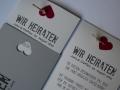 Hochzeitseinladungskarte in grau Be Grey No.1