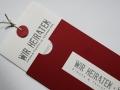 Hochzeitskarte Be Pure in red