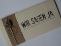 Hochzeitskarte FELINA BSchrift GRUNGE anderole braun / Karte elfenbein / Herz choco