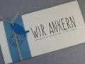 """Hochzeitskarte Felina maritim """"Wir ankern"""""""