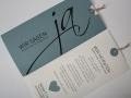 Hochzeitskarte JA! bluegrey mit Texteinlage