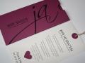 Hochzeitskarte JA! cassis mit Texteinlage