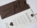 Hochzeitskarte JA! choco mit Texteinlage