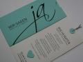 Hochzeitskarte JA! mint mit Texteinlage