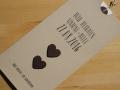 Hochzeitskarte LOFTY creme / choco