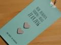 Hochzeitskarte LOFTY mint / creme