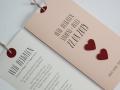 Hochzeitskarte LOFTY rosa mit Texteinlage