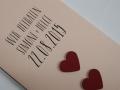 Hochzeitskarte LOFTY rosa Detailansicht