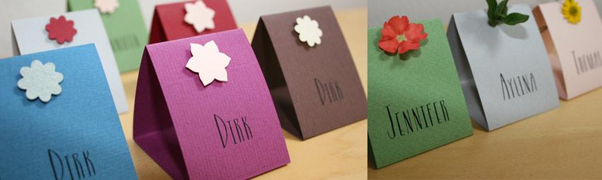 Hochzeit Tischkarten / Platzkarten SWEETY