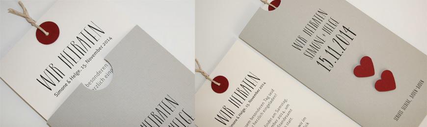 Hochzeitskarte in grau LOFTY