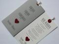Hochzeitskarte Verliebt.Verlobt.Verheiratet. in grau mit Texteinlage