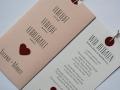 Hochzeitskarte Verliebt.Verlobt.Verheiratet. in rosa mit Texteinlage