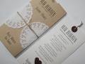 Hochzeitskarte Vintage creme/choco mit Texteinlage