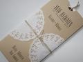 Hochzeitseinladung Hochzeitskarte Vintage creme/choco