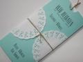 Hochzeitseinladung Hochzeitskarte Vintage mint