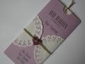 Hochzeitseinladung Hochzeitskarte Vintage orchidee