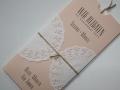 Hochzeitseinladung Hochzeitskarte Vintage rosa