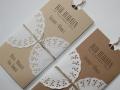 Hochzeitseinladung Hochzeitskarte Vintage creme und braun