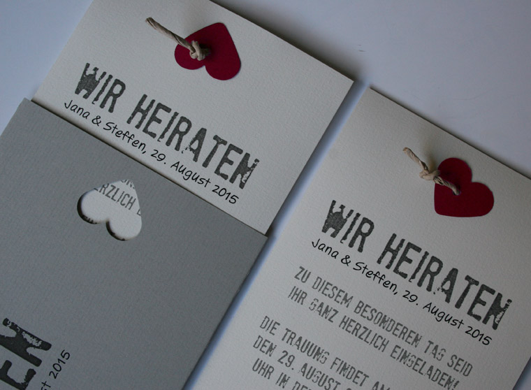DIY Hochzeitskarten (Do It Yourself) + IFY (Ideas For Your)