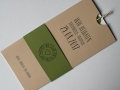 Hochzeitskarte Amira creme-oliv