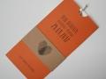 Hochzeitskarte Amira mandarin-braun