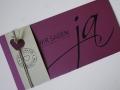 Hochzeitskarte FELINA cassis creme