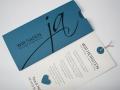 Hochzeitskarte blau