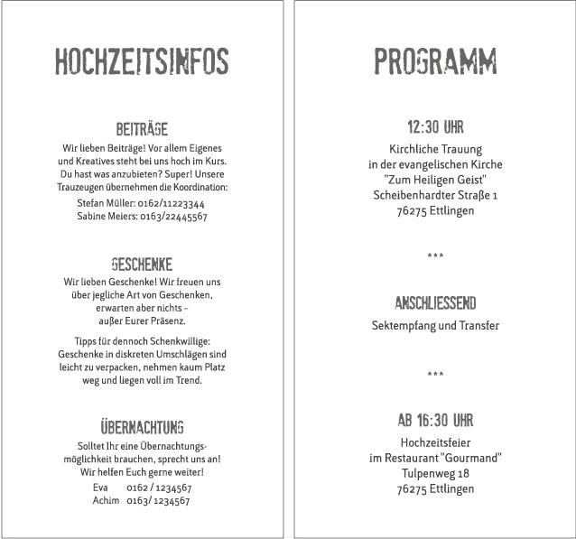 Diese Hochzeitskarten Texte Einladung wird mit coolen Design-Galerie ...