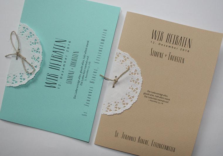 Kirchenhefte Hochzeit von Aylando Hochzeitskarten
