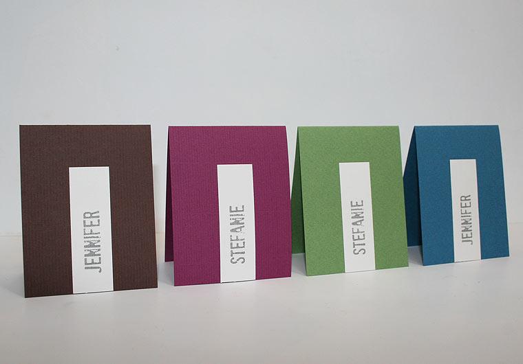 Platzkarte Hochzeit Be Pure in ... von Aylando Hochzeitskarten