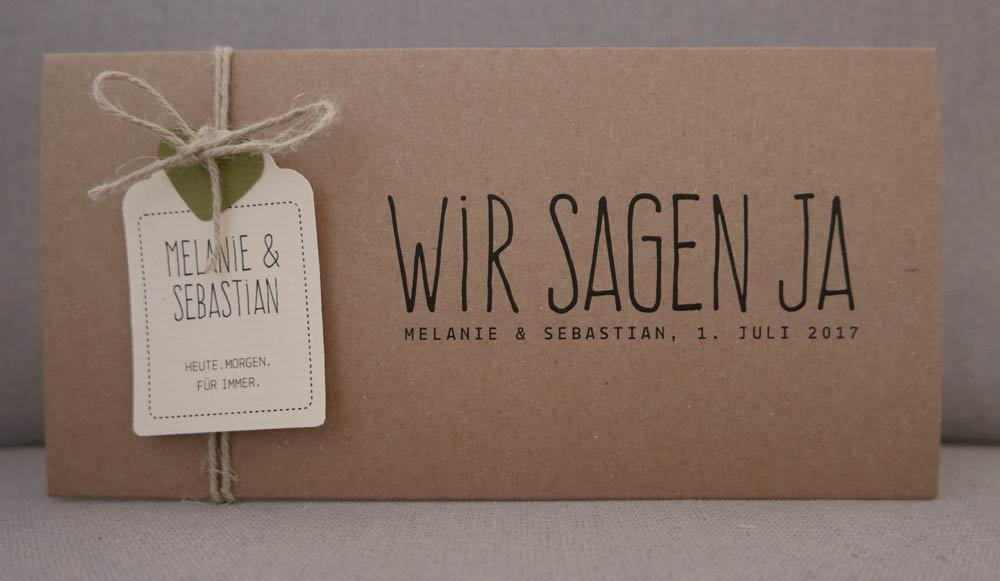 hochzeitskarten aus kraftpapier kraft wedding invitations. Black Bedroom Furniture Sets. Home Design Ideas