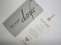 Danksagungskarte Hochzeit JA in grau