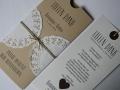 Danksagungskarte Hochzeit VINTAGE mit Texteinlage
