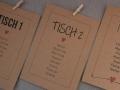 Hochzeit Sitzplan Kärtchen aus Kraftpapier