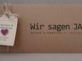 Hochzeitseinladung Hochzeitskarte Kraftpapier HEAVN Schreibmaschinenschrift
