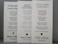 Hochzeitskarte Kraftpapier Texteinlagen