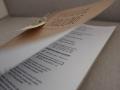 Kirchenheft aus Kraftpapier mit Anhänger