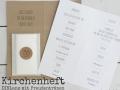 Kirchenheft DIN Lang aus Kraftpapier mit inliegenden Freudentränen und Texteinlage