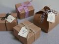 Minianhänger Kraftpapier für Gastgeschenke