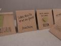 Platzkarten aus Kraftpapier - diverse Ausführungen
