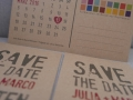 Save-the-Date-Karte aus Kraftpapier Karton