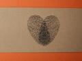 Hochzeitskarte AMIRA mit Banderole Fingerprints