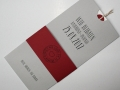 Hochzeitskarte Amira grau-rot