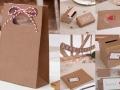Hochzeitsdeko Kraftpapier-Look