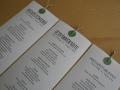 Menükarten gerollt zur Hochzeitskarte BeNature