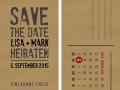 Save-the-Date-Karte Kraftpapier-Look
