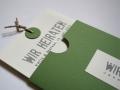 Hochzeitskarte Be Pure in green