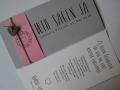 Hochzeitskarte FELINA grau/pink mit Schrift Vintage No.1 und Texteinlage
